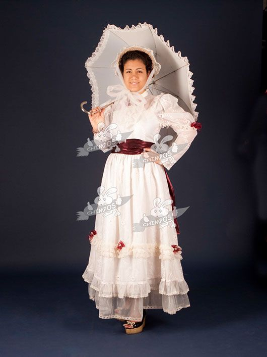 Belle Epoque mujer_traje blanco
