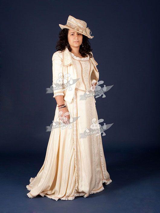 Belle Epoque mujer_traje crema