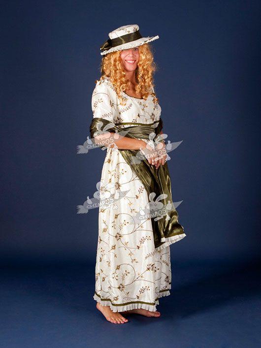 Belle Epoque mujer_traje de flores
