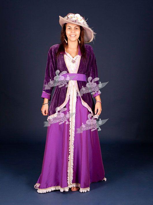 Belle Epoque mujer_traje morado
