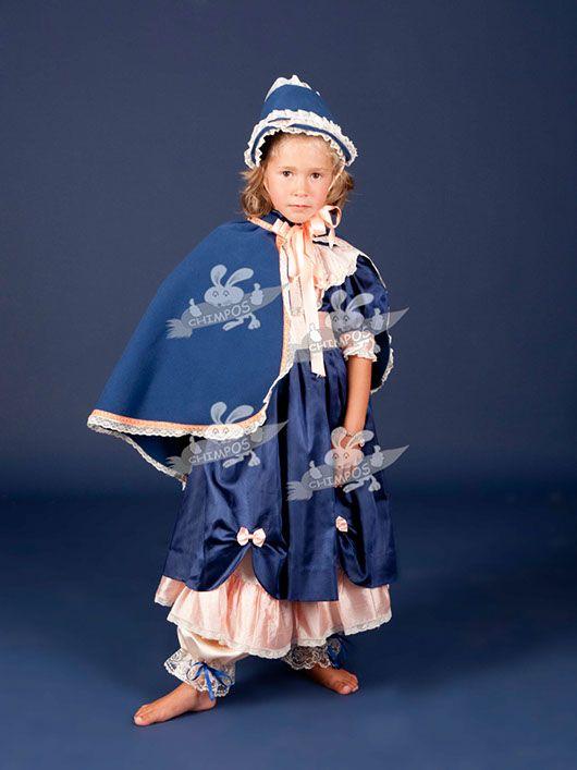 Belle Epoque niña_traje azul