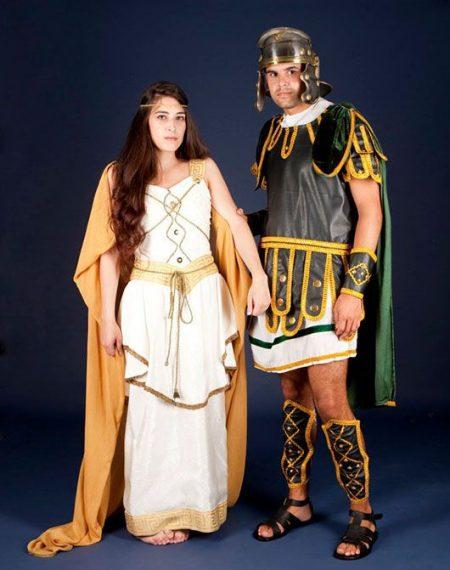 Centurión y mujer romana