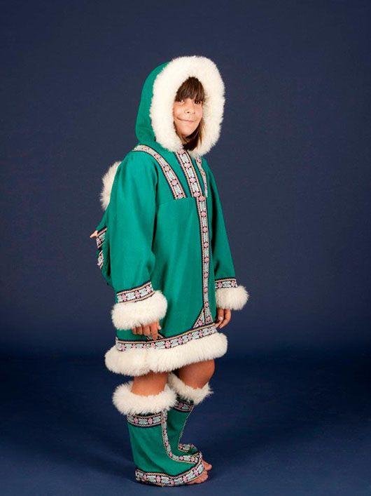 Esquimal-niña_traje verde
