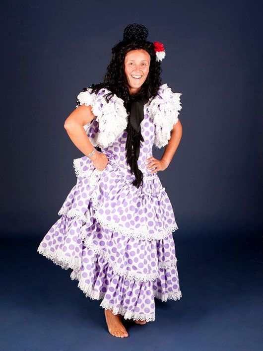 Flamenca_traje de lunares malva