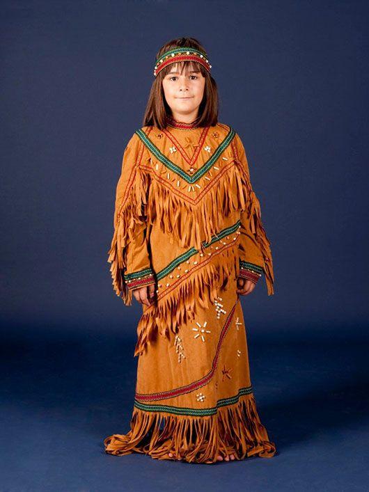 India-niña_traje color tierra