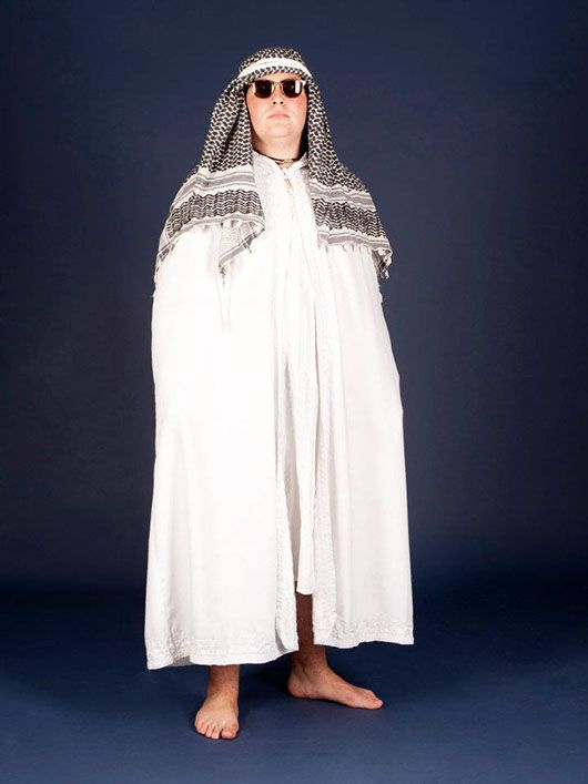 Jeque árabe_traje blanco
