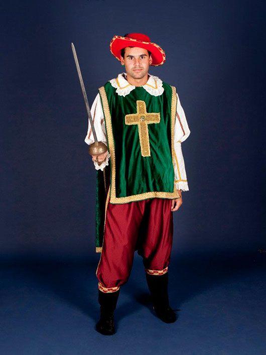Mosquetero_traje verde y rojo