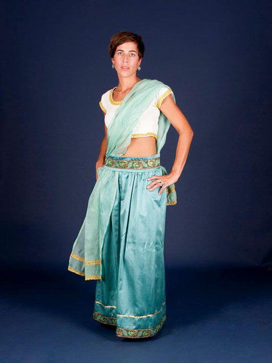 Mujer hindú_traje verde