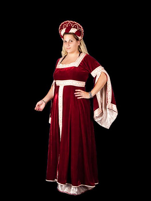 dama medieval_traje granate