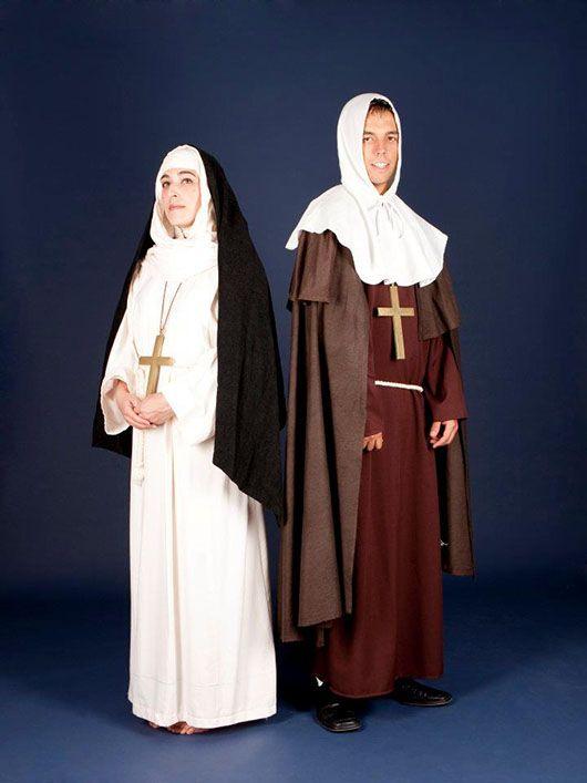 monja y monje medievales